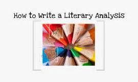 How to write a lit analysis